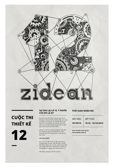 Poster_12 #agency #lettering #cuoc #thiet #ke #12 #zidean #color #drawing #thi #black #number #poster #hand #bratus #typography