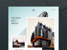 Architecture Website Concept #webdesign #architecture