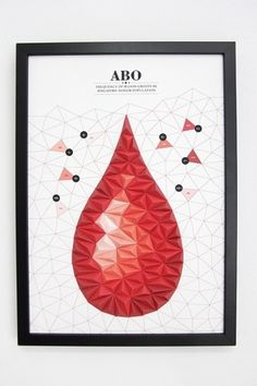 3D Paper Infographics #blood #craft #paper #diagram