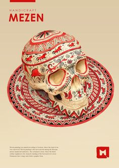 Styles of russian folk painting by Sasha Vinogradova, via Behance #paint #skull #colors #art