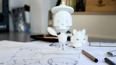Adobe 3d Printed Toy on Behance #print #kidrobot #munny #adobe #dunny #toy #3d