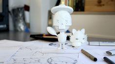 Adobe 3d Printed Toy on Behance #print #kidrobot #munny #adobe #dunny #toy #3d