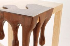Chocolate art decorated fusion table #tables #fusion #chocolate #furniture #art