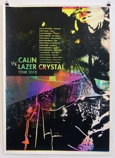 Calin Lazer Crystal - Damien Tran #print #colorful #poster
