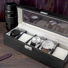 This luxuriously designed 5-Piece Watch Case comes as an ideal treasure chest for your most cherished wristwatches. #tech #flow #gadget #gift #ideas #cool
