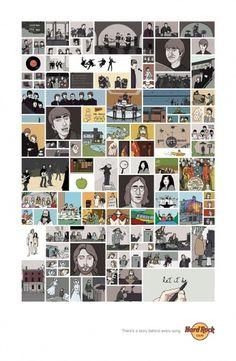 hard_rock_cafe_beatles.jpg 1200×1833 pixels #beatles #the #advertising #illustration #poster #music