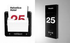Helvetica hotel #brand #signage #helvetica #branding