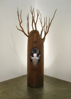 "THIS IS SO CONTEMPORARY™ | 67 Cernunnos Height: 96"", Width: 48"" 2006 mixed... #fantasy #sculpture #wood #strange #fun"