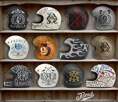 Helmets Private Collection #design #helmets #bmd #illustration #motorcycle