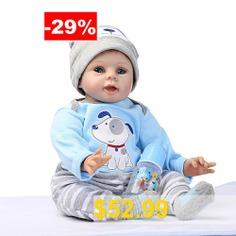 NPK #Soft #Silicone #Simulation #Reborn #Baby #Doll #Toy #for #Children #- #BLUE