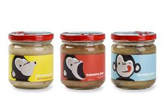lovely package ooh ooh ah ah 1 #butter #banana #jam #packaging #jars #peanut