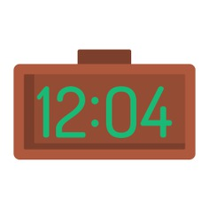 See more icon inspiration related to clock, alarm, time, digital clock, time and date, wake up, alarm clock, electronics, education, digital and timer on Flaticon.