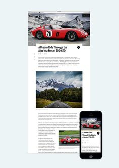 Wondersauce Work / Car Crush wondersauce.com #responsive #mobile #blog #wondersauce #web #car #typography