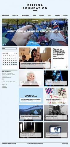 Delfina Foundation #responsive #identity #web