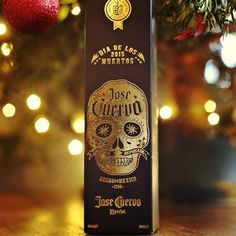 Jose Cuervo Limited Edition Dia De Los Muertos Packaging #Packaging #Tequila #Foil #Sugarskull #illustration #Box #graphicdesign #gold #foil