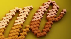 LEGO Lettering on Behance #lettering #lego #typography
