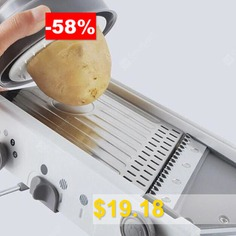 Multifunctional #Stainless #Steel #Vegetable #Cutter #- #GRAY