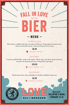 Love All Weekend Menu By Rev Pop #texture #paper #restaurant #menu design