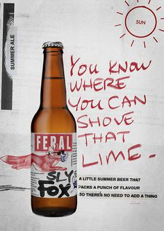 Feral Sly Fox Ad #campaign #beer