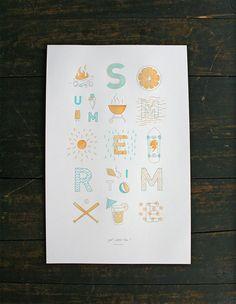 SOF_Summertime_01 #summer #letterpress #poster