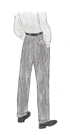 original illustrations for Max (June 2013) #fashion #illustration #trousers #men
