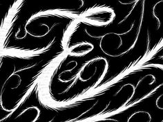 Dribbble - A hairy detail by Friends of Type #e #type #hairy #lettering