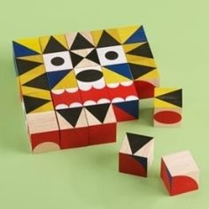 Kids Blocks: Kids Crazy Faces Block Set, Miller Goodman Maker #toy