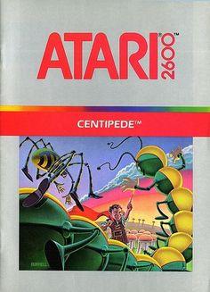 Atari - Centipede | Flickr - Photo Sharing! #games #video #illustration #manual #booklet
