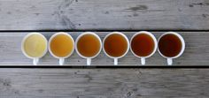 Things Organized Neatly #varying #strengths #palette #tea #colour