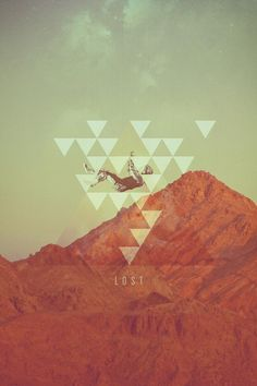 ... #mountain #pattern #falling #poster #triangles #lost