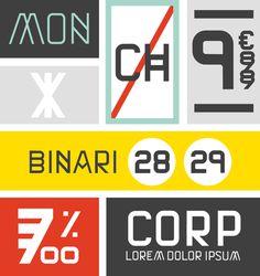Font design by Philippe nicolas #specimen #type specimen #grid #construction #font #typeface #type design #colors #presentation #bauhaus #e