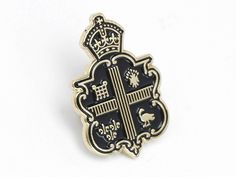 Creative Review - Claridge's rebrand #british #royal #seal #pin #emblem