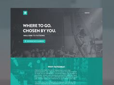Fatsoma Homepage Concept 2 #website
