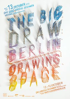 typeverything:The Big Draw Berlin 2012 poster by Ariane Spanier. #design #color #typo #poster