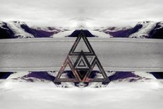 1 note #mountain #snow #triangle #triforce #manipulation