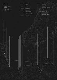 Tour poster for Loscil by Network Osaka #osaka #design #black #network #poster #electronic