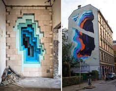 1010-7 #1010 #mural #illusion #portal #colour