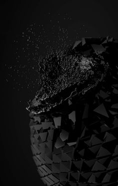 OMEGA/SERIES on Behance #computer #generated #cgi #destruction #polygons #particles