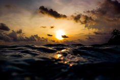 photo #ocean #water #photography #sunset #waves