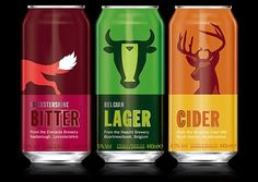 FFFFOUND! | TheDieline.com: Package Design #beer #packaging #belgian #bitter #color #cider #illustration #lager #animal #can