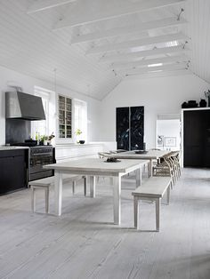 The Design Chaser: Homes to Inspire | Danish Summer House #interior design #decoration #decor #deco #kitchen