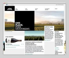 Websites We Love #interactive #design #wine #website #webdesign #layout #web