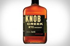 Knob Creek Rye Whiskey | Uncrate #design