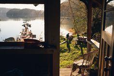 Cabin Porn: Lakeside cabins on Sonora Island, British... #lake #cabin #photography #landscape