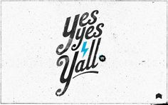 Yes Yes Y'all | Neuarmy™ #logo #design #branding #typography