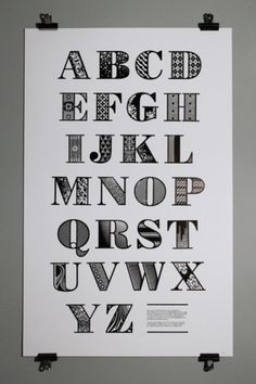 Typeverything.com - This decorative alphabet was... - Typeverything #type #alphabet #letters