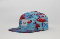 Flamingo, 5 panel print #pattern #panel #hat #5 #and #fashion