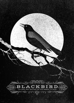 blackbird | totlanit.co #b&w #texture #illustration #poster #collage