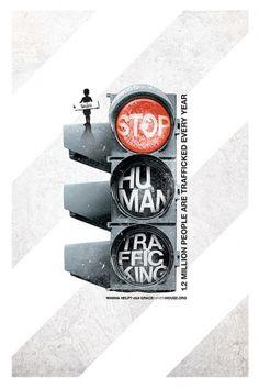 Stop Human Trafficking #poster #traffic #light #human #stop