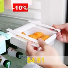 Creative #Refrigerator #Storage #Box #Fresh #Layer #Storage #Rack #Pull-out #Drawer #Casket #Sort #Fridge #Drawer #Kitchen #Supplies #- #WHITE